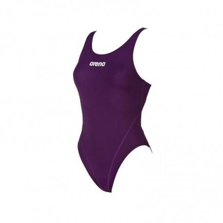 Strój kąpielowy Arena Solid Swim Tech (plum,r.36)