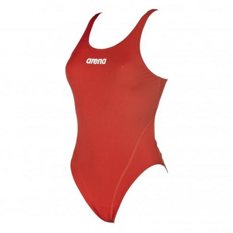 Strój kąpielowy Arena Solid Swim Tech (red-wh,r.38)